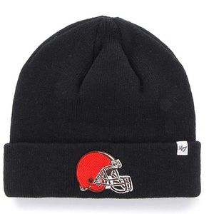 Cleveland Browns Raised Cuff Knit Hat NWT OS